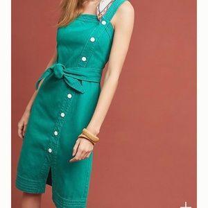 Anthro•Maeve Elizabeth Button-Front Dress